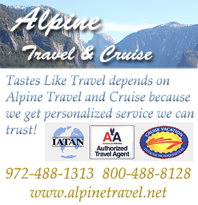 Alpine Travel and cruise, Pelham Swift, travel agent, Dallas, Rockwall,